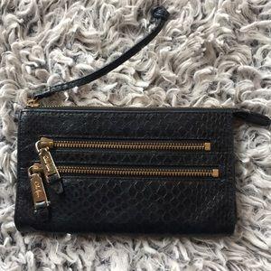 Cole Haan Clara Crosby snakeskin leather wallet